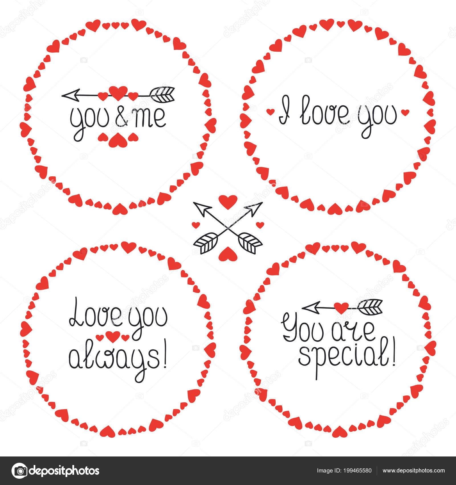 Marco de corazón redondo. Te quiero. Placas etiquetas romántico ...