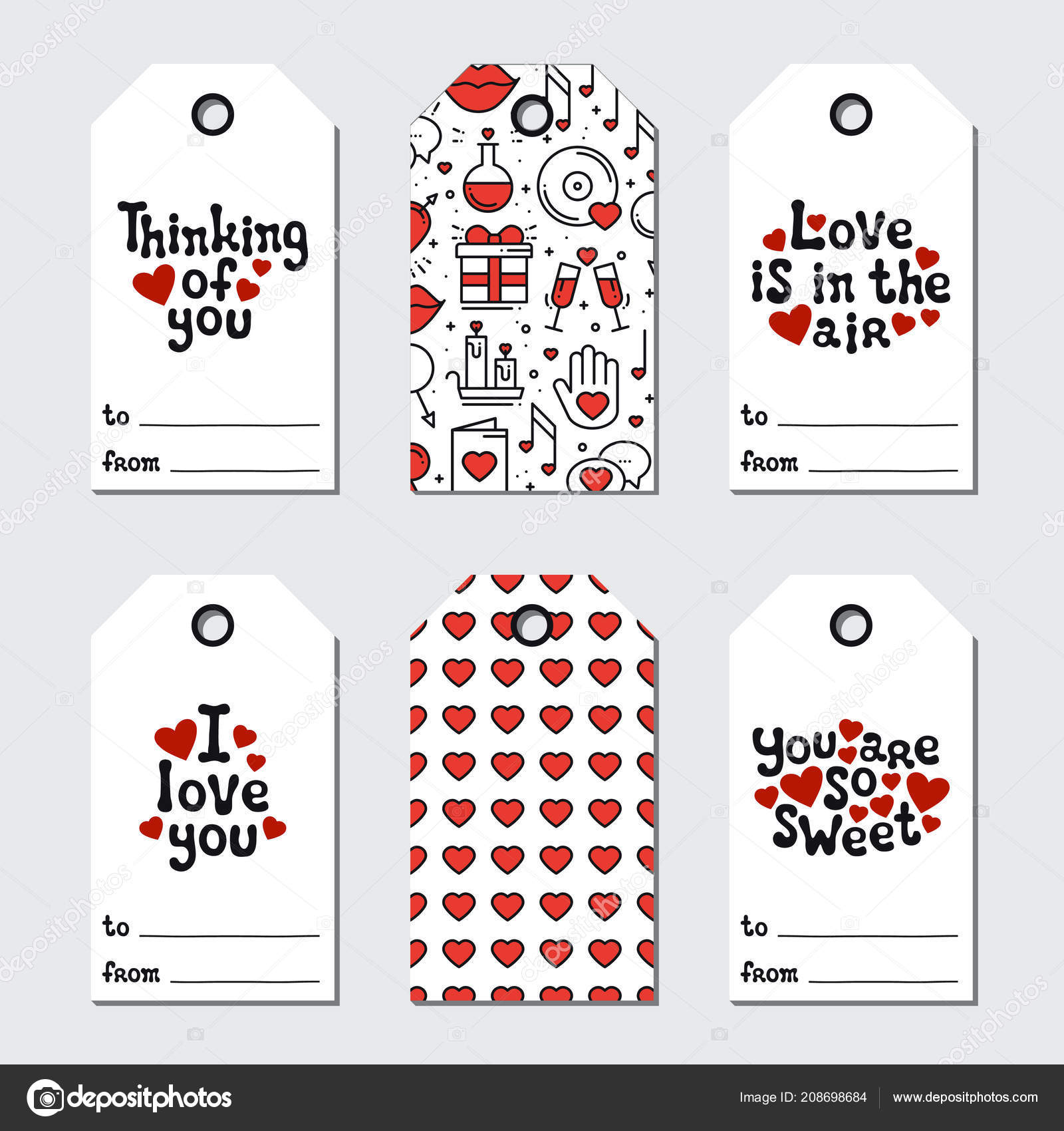 graphic about Holiday Tags Printable named St Valentines working day present tags. Printable tags choice. Appreciate