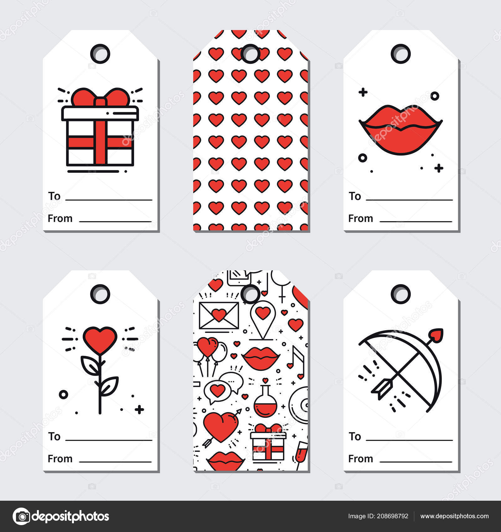 image relating to Valentines Gift Tags Printable known as St Valentines working day present tags. Printable tags assortment. Enjoy