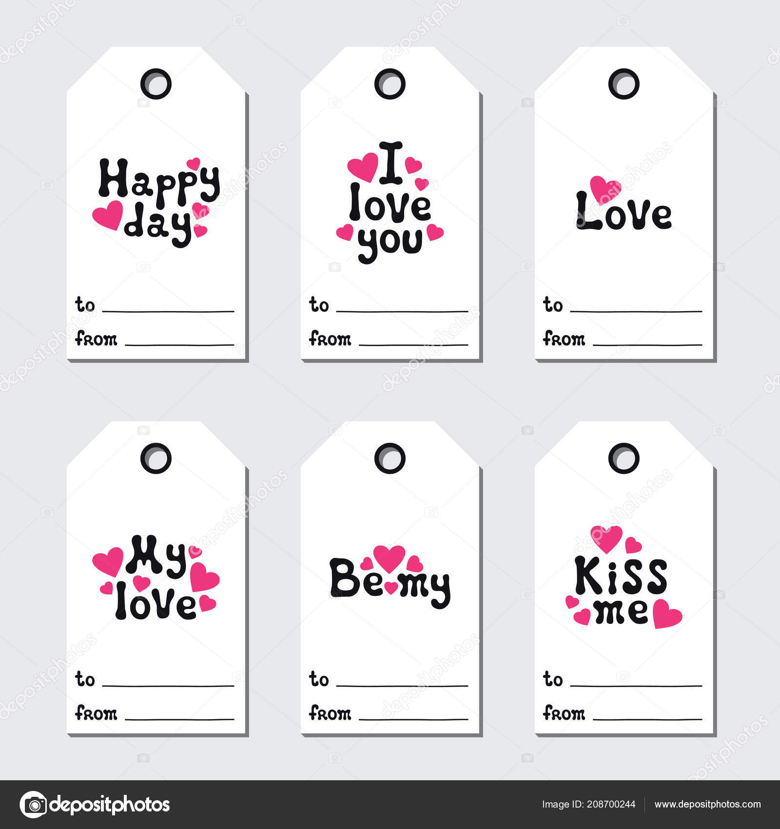 St Valentines Day Gift Tags Printable Tags Collection Love
