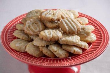 Lemon cookie cookies with sugar, vegan sweets.