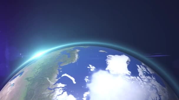 Die Weltsternansicht oder der 3D-Globus aus dem All im Sternenfeld zeigt die Zusammensetzung dieses von der Nasa dekorierten Bildes.