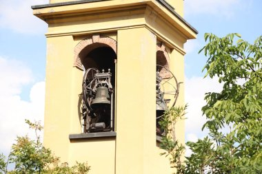bell tower of a small church in Italy
