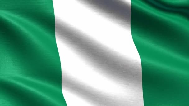 Realistic flag of Nigeria, Seamless looping with highly detailed fabric texture, 4k resolution