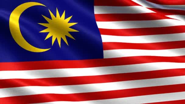 Realistic flag of Malaysia, Seamless looping with highly detailed fabric texture, 4k resolution