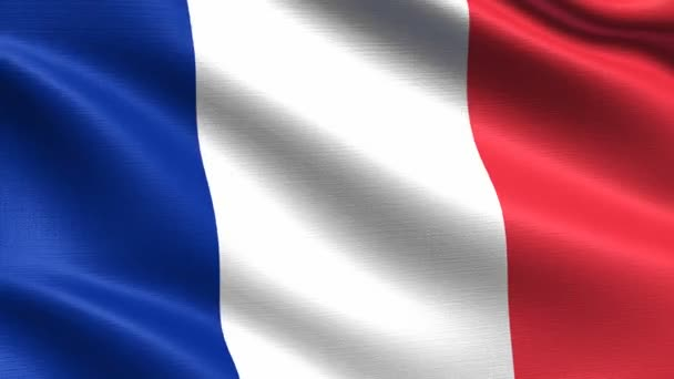 Realistic flag of France, Seamless looping with highly detailed fabric texture, 4k resolution