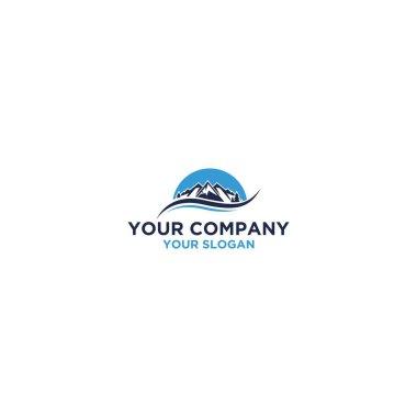 Mountain Sunrise Logo Design Vector