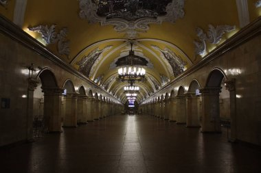 Moscow Metropolitain, Koltsevaya line, Komsomolskaya station opened in 1952, 09.2019