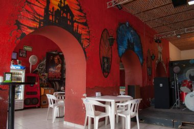 Lagos de Moreno, Jalisco / Mexico - Jul 2010 Rock bar concept, A place with live band, where you can eat, drink and chill with friends