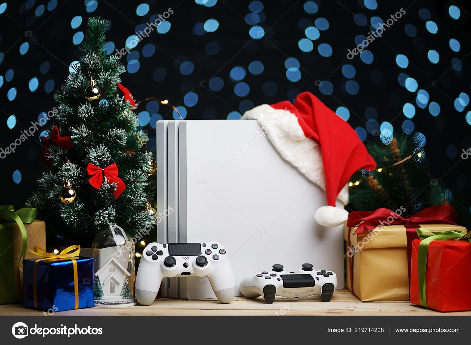 Consola Juegos Decoracion Del Regalo Navidad Santa Sombrero Regalo