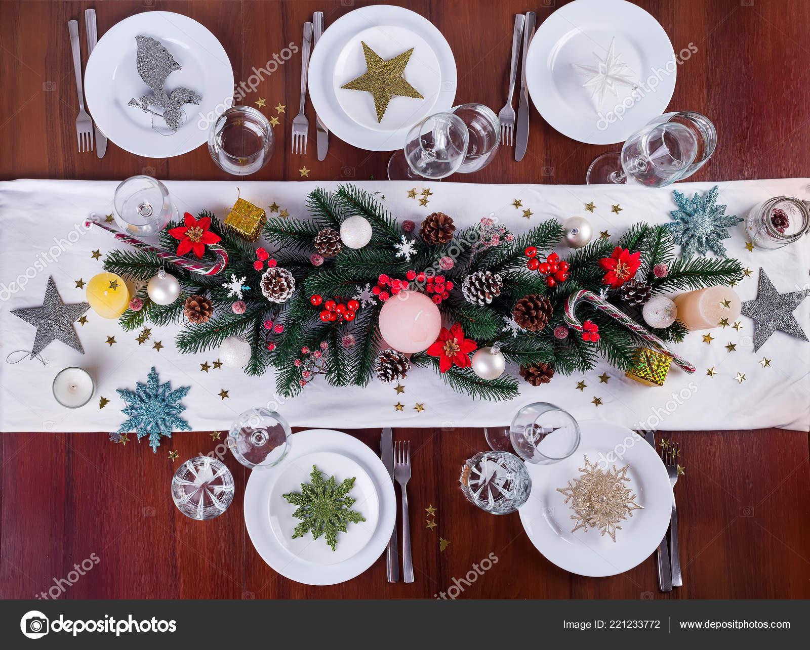 A Christmas Arrangement.Decorates A Christmas Arrangement With Candles Christmas