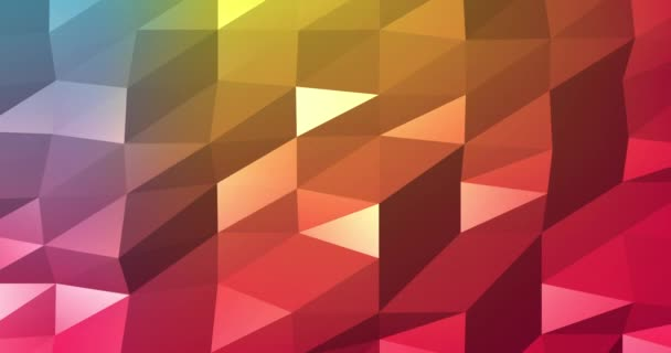 3d Abstract seamless background, looped animation. Colored triangles