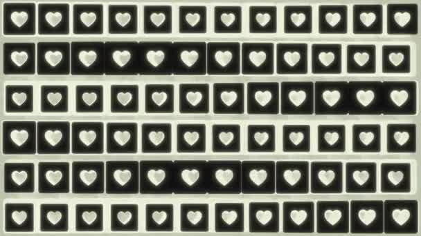 Zökkenőmentes hurok. Integető szív alakzatok. Izometrikus vetület.