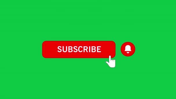 Kliknutí myší na tlačítko Přihlásit se k odběru a upozornění zvonku se zeleným pozadím.