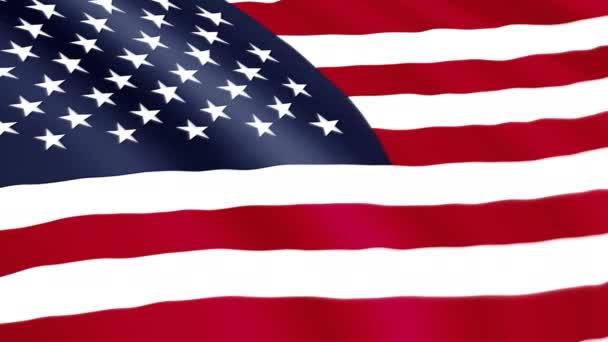 USA flag is waving. United States of America symbol animation