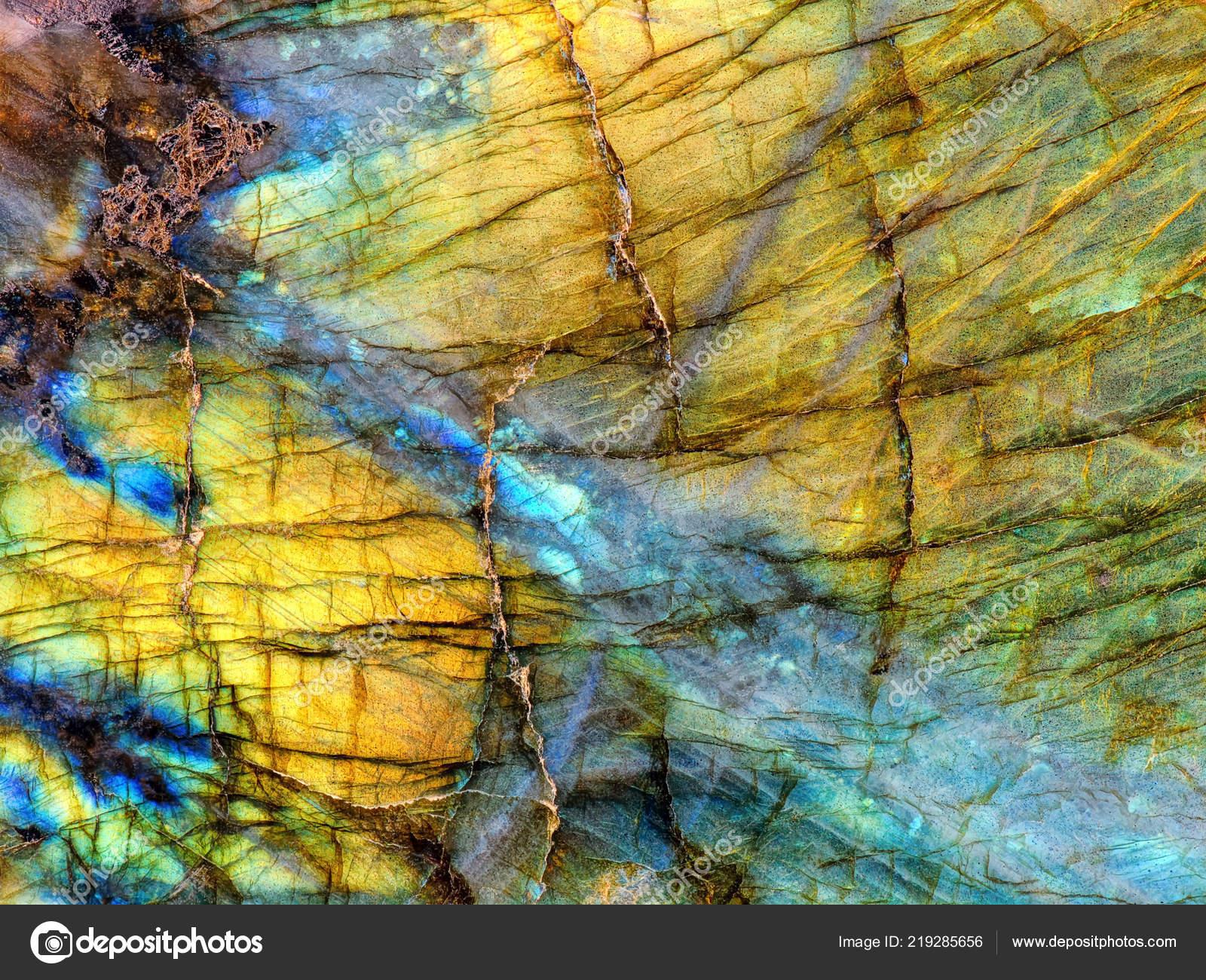 Amazing Colorful Texture Iridescence Labradorite Mineral