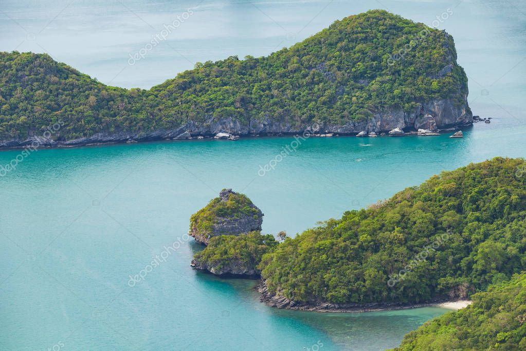 View of islands from Ang Thong National Marine Park, Thailand