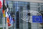 Brusel, Belgie. 21 s t květen 2019. vnější pohled na budovu Evropského parlamentu.