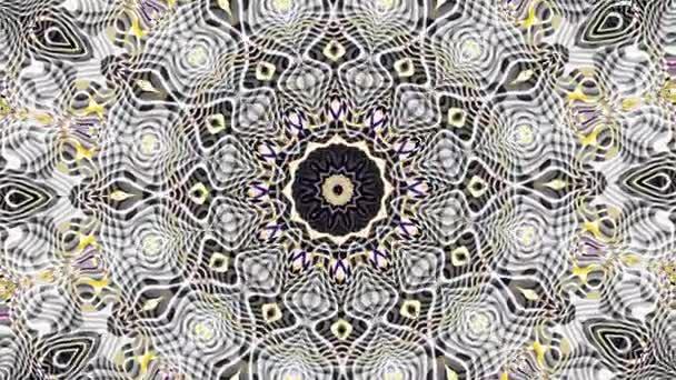 Transformace dekorativní retro mozaika pozadí. Kulaté mandala vzor ve stylu Art Nouveau. Bezešvá smyčka záběry