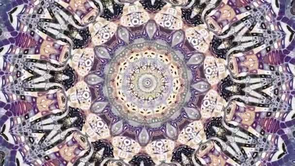 Díszítő kör átalakítása. Kerek mandala mintával. Varrat nélküli hurok felvételek.