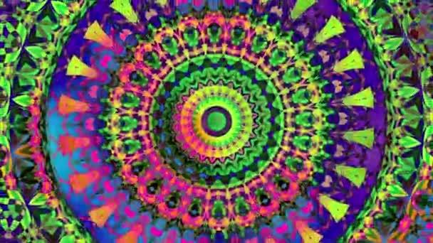 Transformace okrasné kruh. Kulaté mandala vzor. Bezešvá smyčka záběry