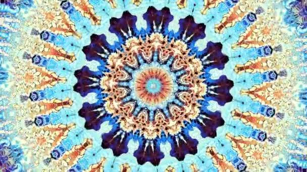 Transformace okrasné kruh. Kulaté mandala vzor. Bezešvá smyčka záběry.