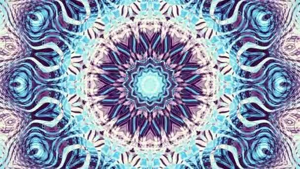 Spinning absztrakt díszítő mandala kör átalakítása. Varrat nélküli hurok felvételek.