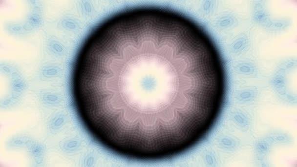 Rotující abstraktní transformace okrasné mandala kruh. Bezešvá smyčka záběry.