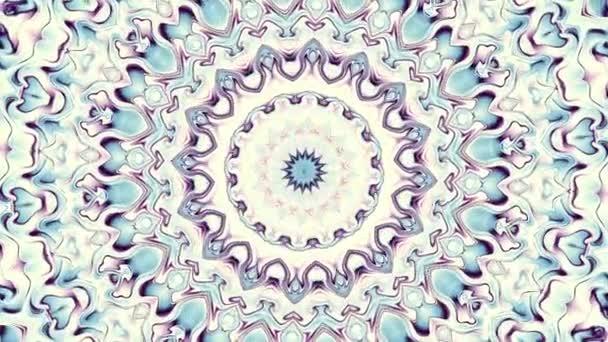 Rotující abstraktní transformace okrasné mandala kruh. Bezešvá smyčka záběry