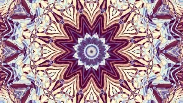 Transformace dekorativní retro mozaika umění kruhu. Kulatý zdobený okrasné mandala vzor. Bezešvá smyčka záběry.