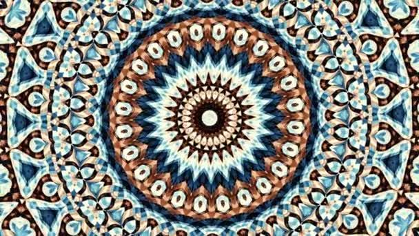 Átalakítása díszítő vintage mozaik művészet kört. Kerek díszes díszítő mandala mintával. Varrat nélküli hurok felvételek.