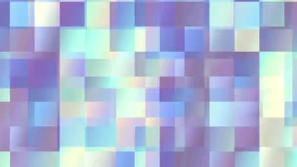 Rychle blikající čtverce průhlednost. Přesouvání geometrické pozadí. Opakování záběrů.