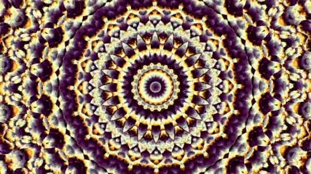 Rotující abstraktní magický kruh. Esoterické kosmické mandaly
