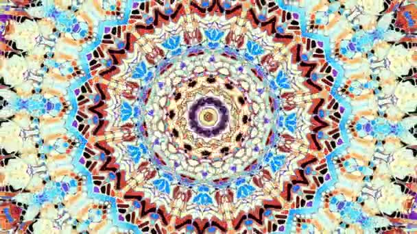 Spinning absztrakt mágikus kör. Ezoterikus kozmikus Mandala. Looping felvétel.