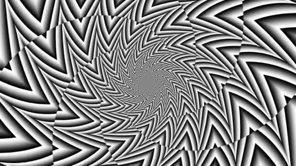 Nekonečná futuristická spirála. Bezešvé smyčkové záběry. Abstraktní šroubovice.