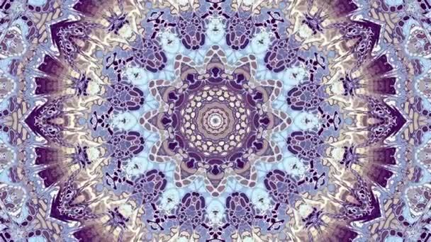 Átalakítása díszítő Vintage mozaik művészeti kör Art Nouvoe stílusban. Zökkenőmentes hurok-felvételek.