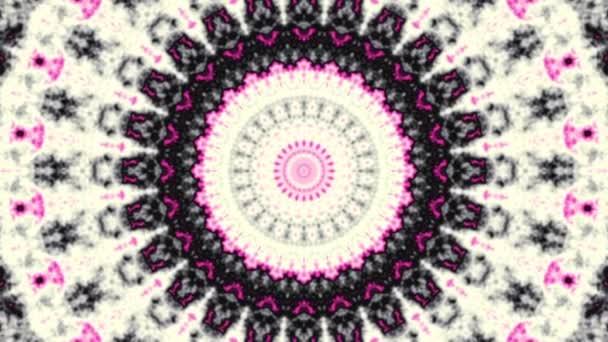 Spinning absztrakt bűvös kör. Ezoterikus kozmikus mandala. Hurok felvételek.