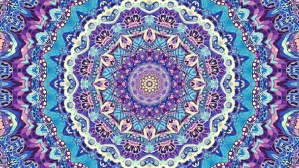 Transformující se Dekorativní umělecké mozaiky ve stylu Art Nouvoe. Bezešvé smyčkové záběry.
