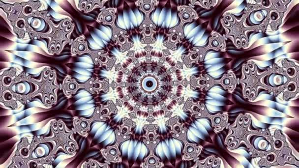 Rotující abstraktní magický kruh. Esoterické kosmické mandaly. Loop záznam.