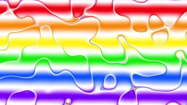 Rainbow Gay Flag Animation on white background.