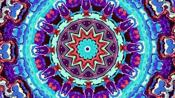 Transformace ornamentální vinobraní mozaiky kruh umění v retro stylu. Bezešvé smyčkové záběry.