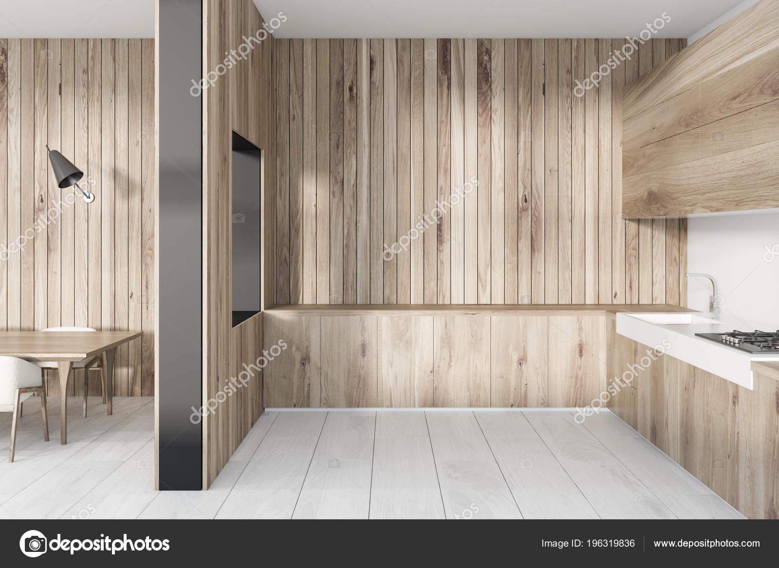 Ripiani In Legno Per Tavoli : Interiore della luce cucina legno con ripiani legno tavolo pranzo
