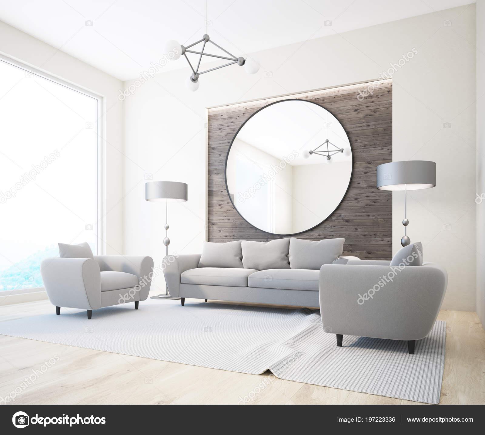 luxe gris canapés fauteuils debout dans intérieur salon style