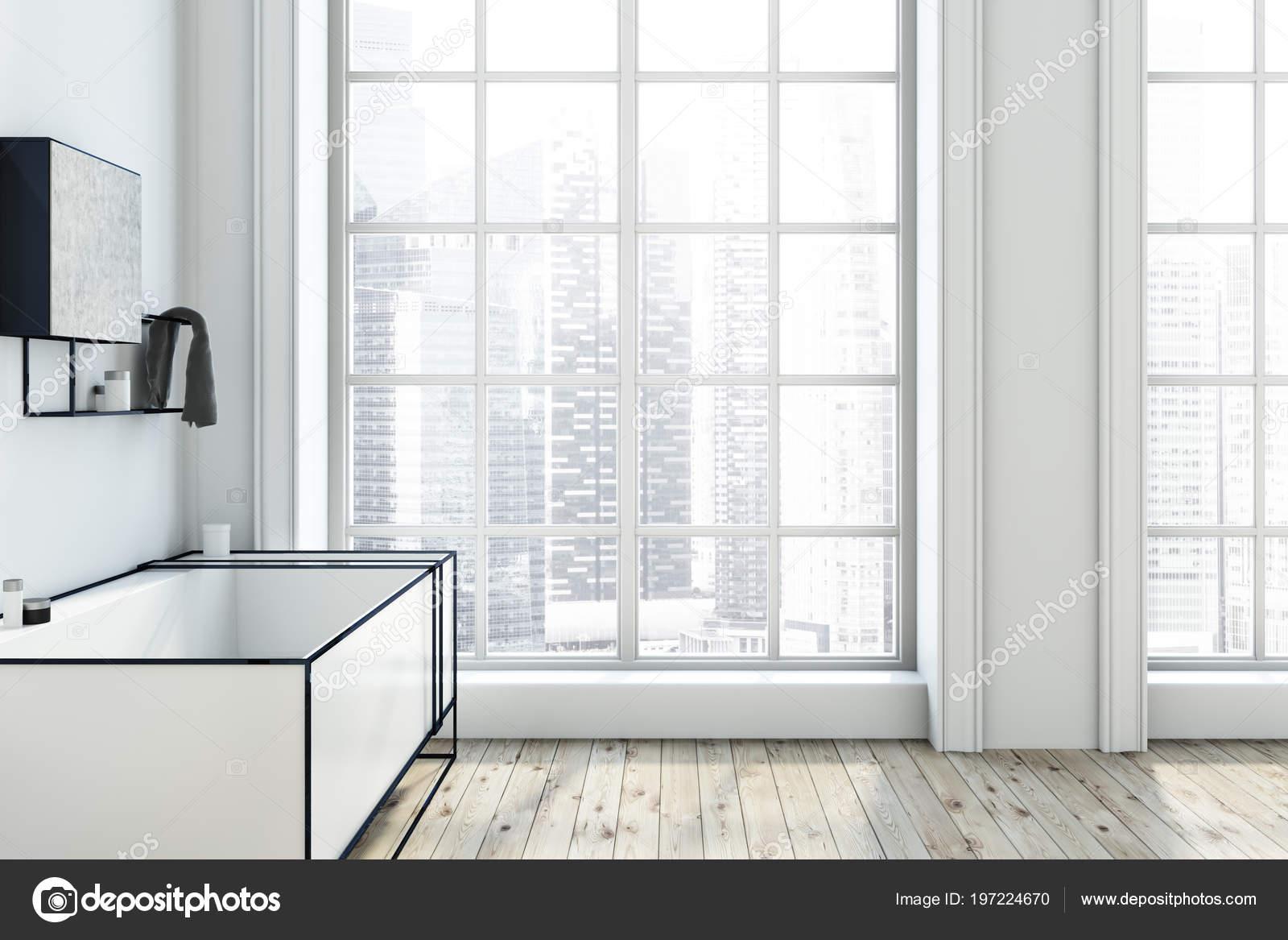 Vasche Da Bagno Angolari Glass : Interno bagno bianco futuristico con una grande vasca bagno