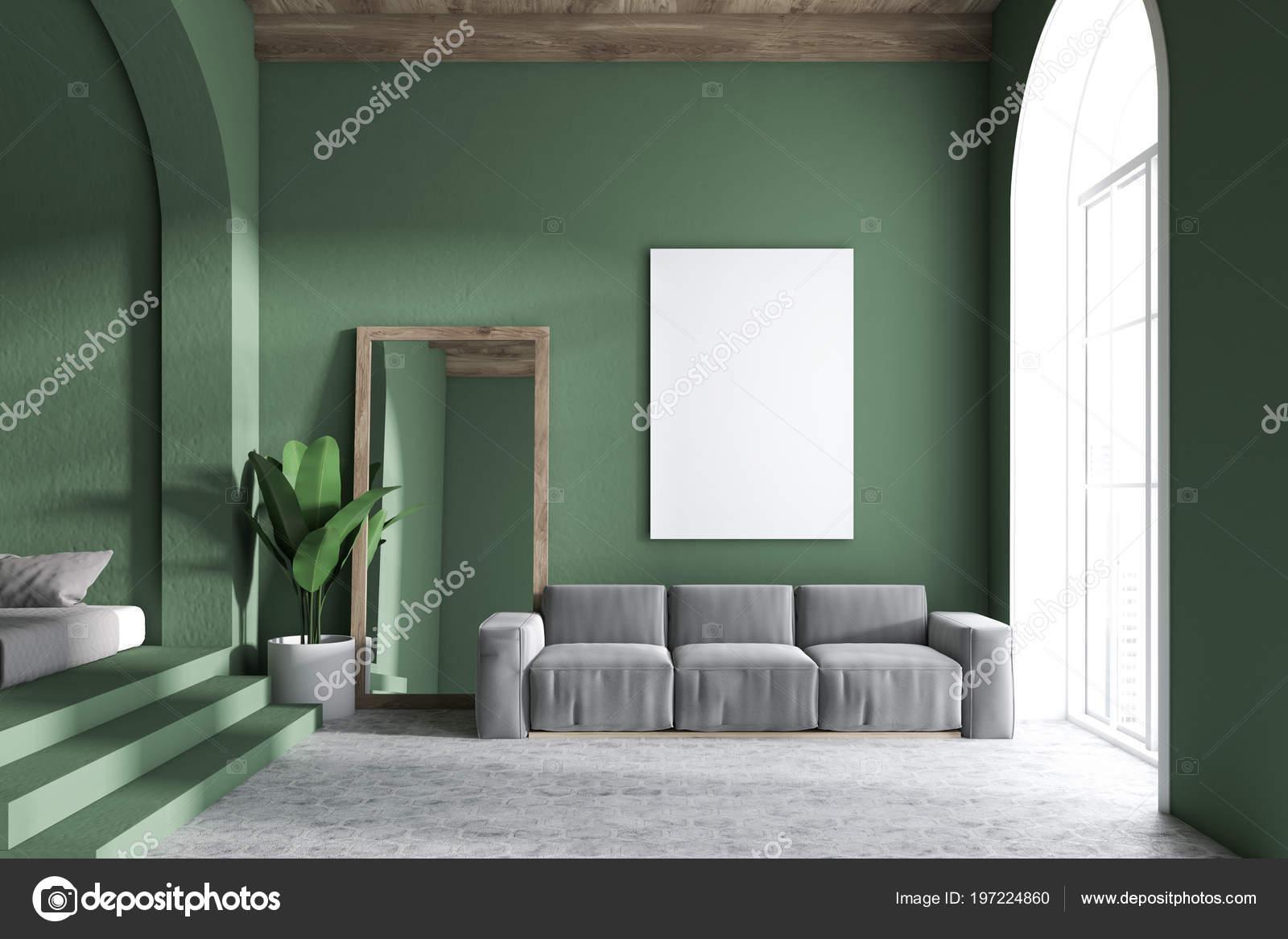 Blickfang Wohnzimmereinrichtung Beste Wahl Grauen Sofa Wohnzimmer Einrichtung Mit Dunklen Grünen