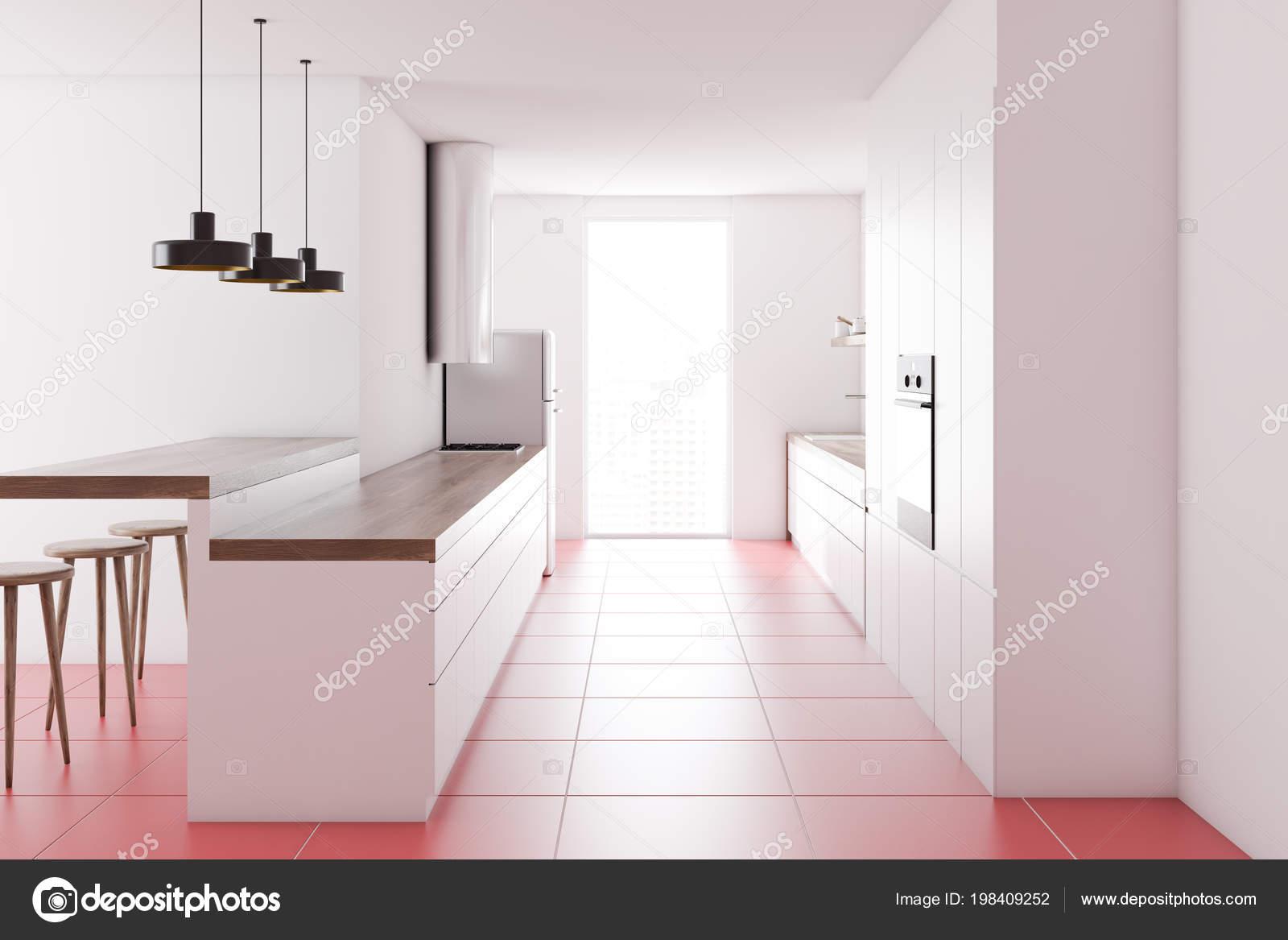 Piani cucina bianco piedi interno cucina parete bianca con