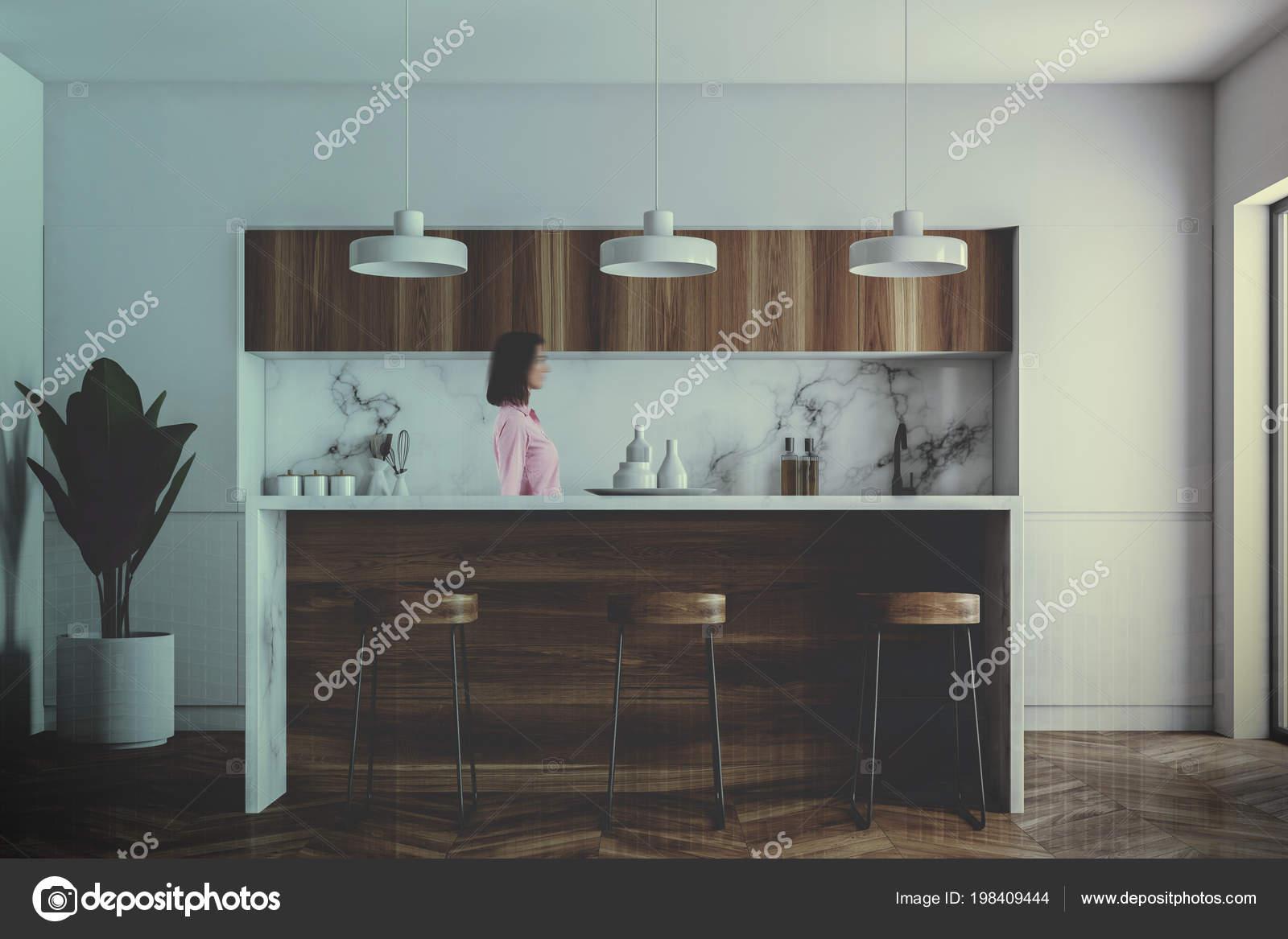 Remarkable Kitchen Corner White Walls Wooden Floor Wooden Bar Stools Inzonedesignstudio Interior Chair Design Inzonedesignstudiocom