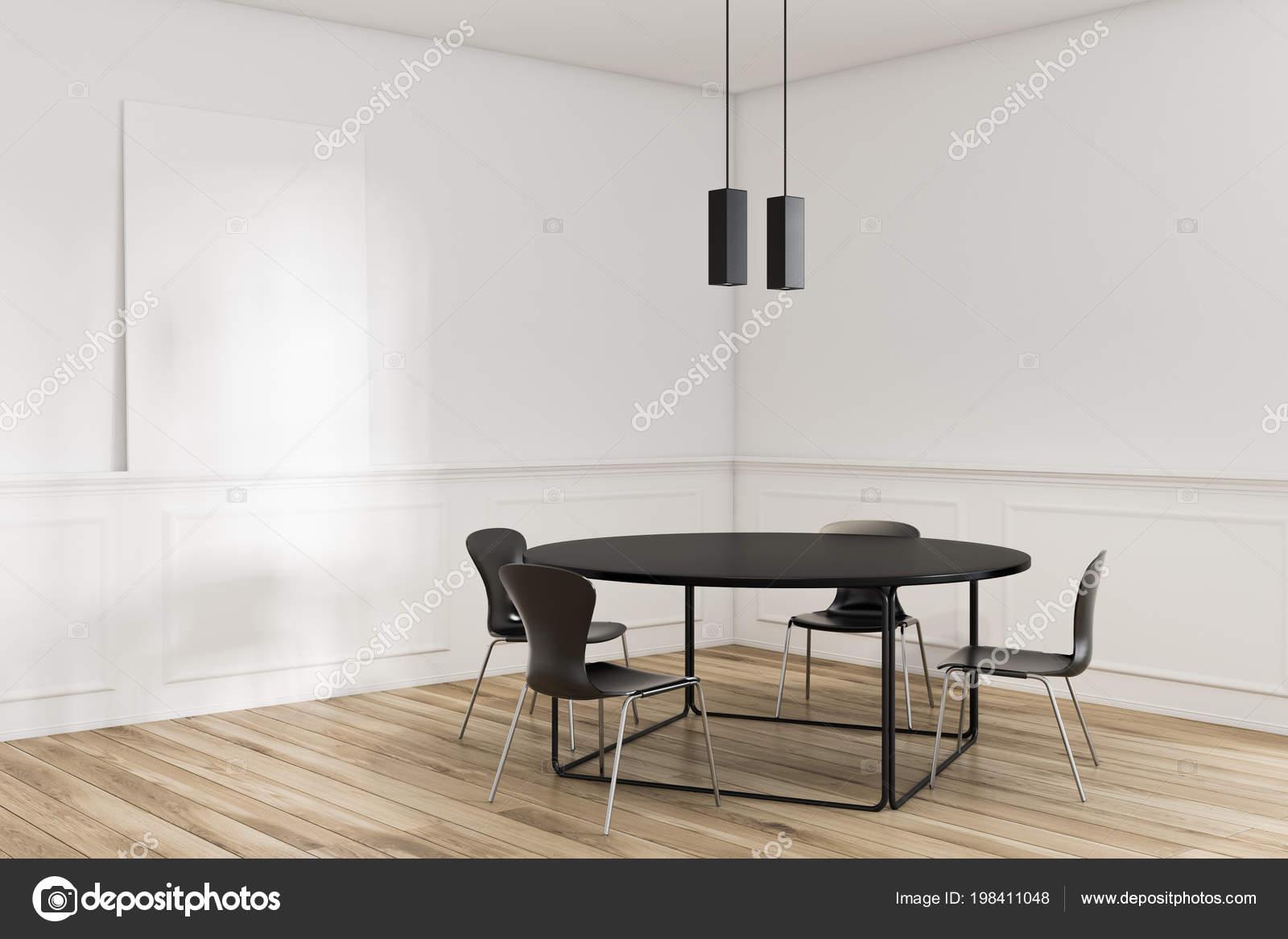 Fußboden Im Eßzimmer ~ Moderne esszimmer ecke mit weißen wänden einen hölzernen fußboden