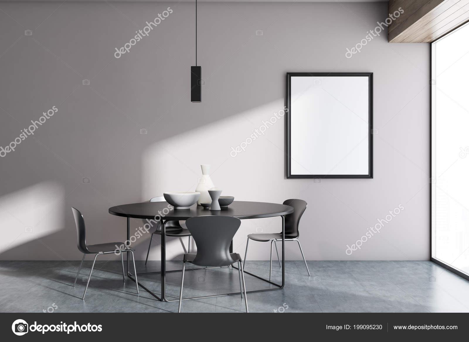 Weiße Wand Minimalistischen Skandinavischen Stil Esszimmer ...