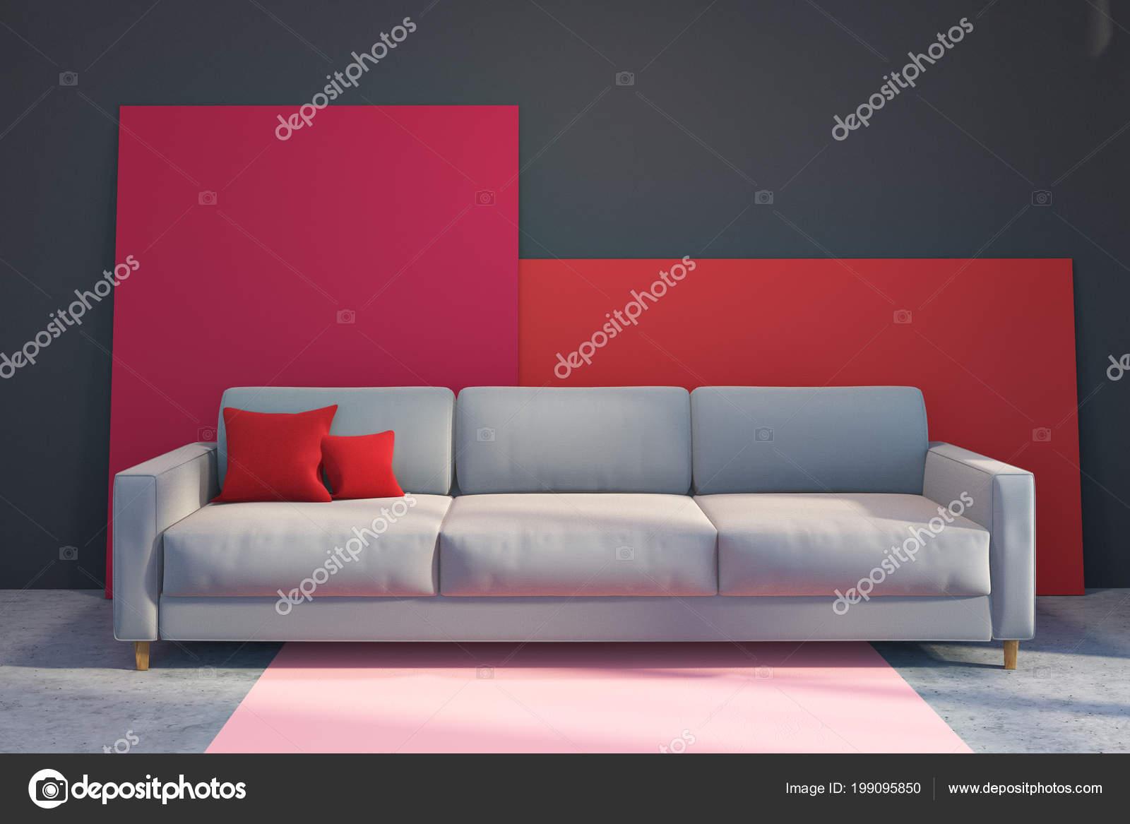 Divano Rosso E Grigio : Foto salotti e divani saba carminati e sonzogni